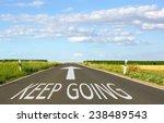 keep going   business concept... | Shutterstock . vector #238489543