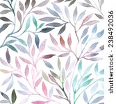 watercolor floral pattern.... | Shutterstock . vector #238492036