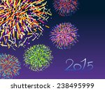 happy new year 2015 with... | Shutterstock .eps vector #238495999