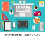 your workplace | Shutterstock .eps vector #238497193