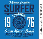 california surf sport... | Shutterstock .eps vector #238500694
