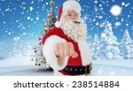portrait of santa with cigar... | Shutterstock . vector #238514884