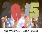 hands holding poster against... | Shutterstock . vector #238520983
