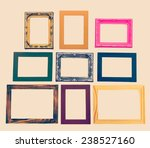 frame process in vintage style... | Shutterstock . vector #238527160