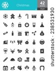 christmas mono color icons | Shutterstock .eps vector #238531930