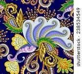 seamless paisley pattern with... | Shutterstock .eps vector #238534549