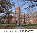 Stock photo college building in fall 238536373