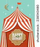 birthday card template vector... | Shutterstock .eps vector #238543480