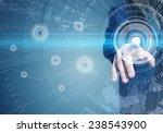 close up of businessman... | Shutterstock . vector #238543900