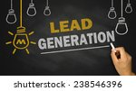 lead generation on blackboard... | Shutterstock . vector #238546396