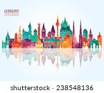 travel germany famous landmarks ... | Shutterstock .eps vector #238548136