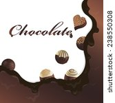 vector chocolate background for ... | Shutterstock .eps vector #238550308