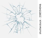 crushed glass hand drawn ... | Shutterstock .eps vector #238554046