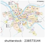 pittsburgh road and... | Shutterstock .eps vector #238573144