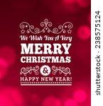 vintage merry christmas... | Shutterstock .eps vector #238575124