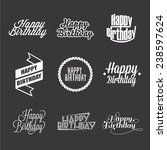 set of happy birthday's... | Shutterstock .eps vector #238597624