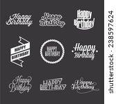 set of happy birthday's...   Shutterstock .eps vector #238597624