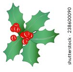 christmas garland  ... | Shutterstock . vector #238600090