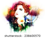 woman portrait .abstract... | Shutterstock . vector #238600570