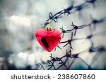 heart and barbed wire. love... | Shutterstock . vector #238607860