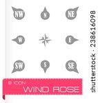vector wild rose icon set on...   Shutterstock .eps vector #238616098