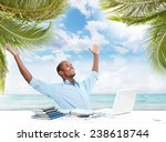 Small photo of African-American Businessman over business office background