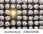 new idea concept with crumpled... | Shutterstock . vector #238620448