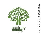 Ecology. Logo  Icon  Template....