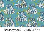 tiger head high color contrast... | Shutterstock .eps vector #238634770