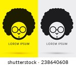 afro head with glasses   logo ... | Shutterstock .eps vector #238640608