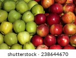 lots of green and red apples  | Shutterstock . vector #238644670