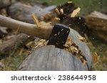 Dynamic Axe Cutting Wood