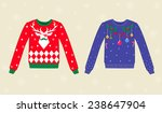 christmas ugly sweaters | Shutterstock .eps vector #238647904