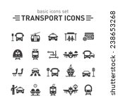 transport icons set. | Shutterstock .eps vector #238653268