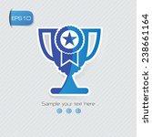 trophy symbol sticker design...