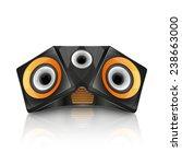speaker isolated on white.... | Shutterstock .eps vector #238663000