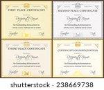 certificate set of four | Shutterstock .eps vector #238669738