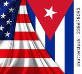 america flag cuba flag | Shutterstock . vector #238678093