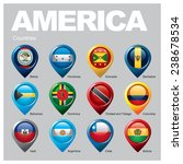 america countries   part three | Shutterstock .eps vector #238678534
