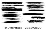 set of vector brush strokes  | Shutterstock .eps vector #238693870