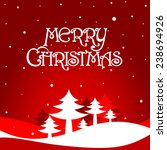 merry christmas card with red... | Shutterstock .eps vector #238694926