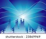 dark blue graphic equalizer on... | Shutterstock .eps vector #23869969
