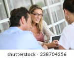 businesswoman meeting with... | Shutterstock . vector #238704256