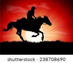 Silhouette Of The Equestrian O...
