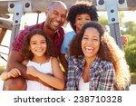 portrait of family on... | Shutterstock . vector #238710328