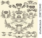 collection of heraldic frames... | Shutterstock .eps vector #238712440