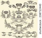 collection of heraldic frames...   Shutterstock .eps vector #238712440