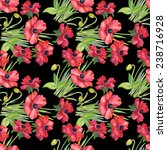colorful floral seamless... | Shutterstock .eps vector #238716928