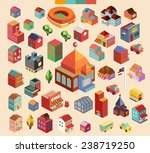 colorful vector isometric... | Shutterstock .eps vector #238719250