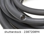 black corrugated pipes isolated ... | Shutterstock . vector #238720894